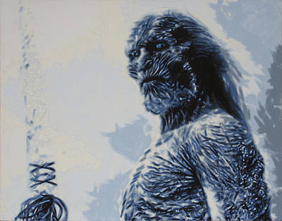 Poster featuring the painting White Walker by Luis Ludzska