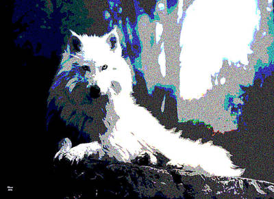 White Wolf Poster by Charles Shoup