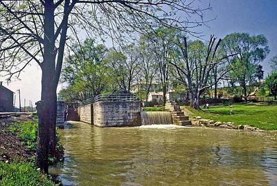Poster featuring the photograph Whitewater Canal Metamora Indiana by Gary Wonning