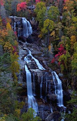 Whitewater Falls In Autumn Poster