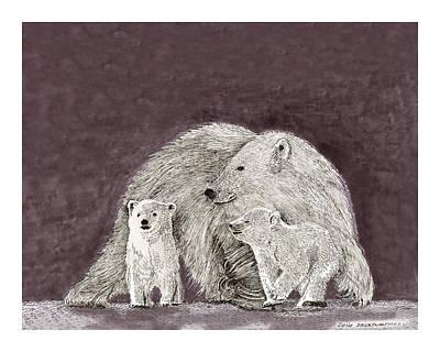 Polar Bear Family Poster by Jack Pumphrey