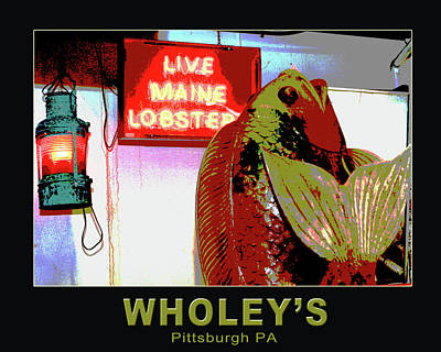 Wholey's Fish Poster by Eclectic Art Photos