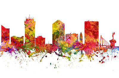 Wichita Cityscape 08 Poster by Aged Pixel