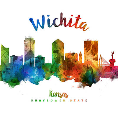 Wichita Kansas 25 Poster by Aged Pixel