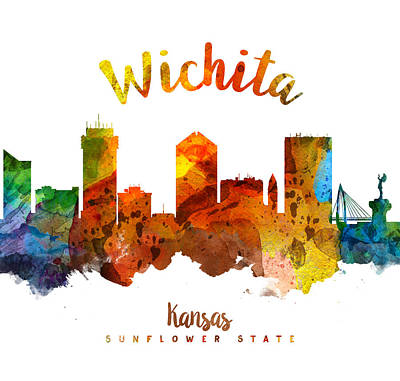 Wichita Kansas 26 Poster by Aged Pixel