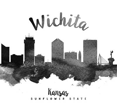 Wichita Kansas Skyline 18 Poster by Aged Pixel