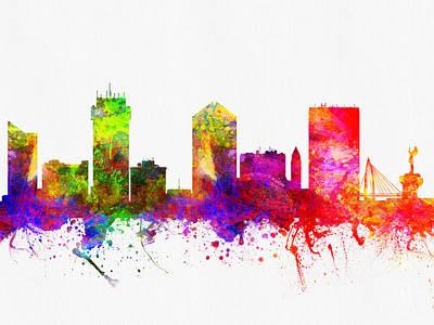 Wichita Kansas Skyline Color02 Poster by Aged Pixel