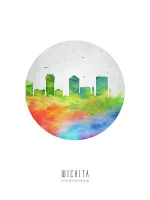 Wichita Skyline Uskswi20 Poster by Aged Pixel