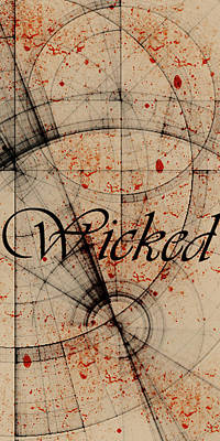 Poster featuring the digital art Wicked by Cynthia Powell