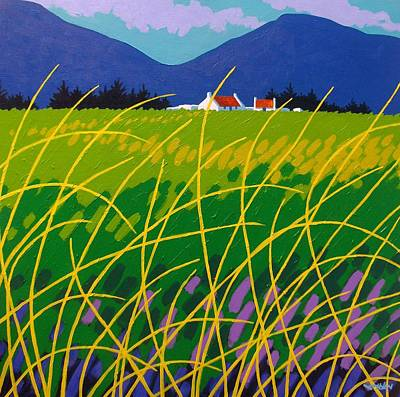 Wicklow Meadow Ireland Poster by John  Nolan