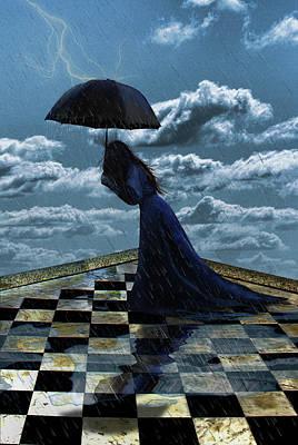 Widow In The Rain Poster
