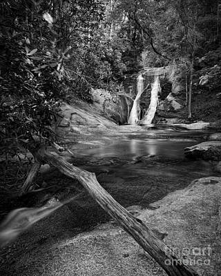 Widows Creek Falls 1 Bw Poster by Patrick M Lynch