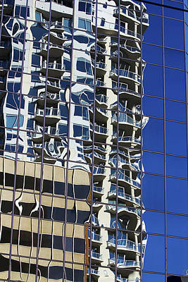 Poster featuring the photograph Wiggly Balconies by Phyllis Denton