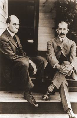 Wilbur Wright And Orville Wright Poster by Everett