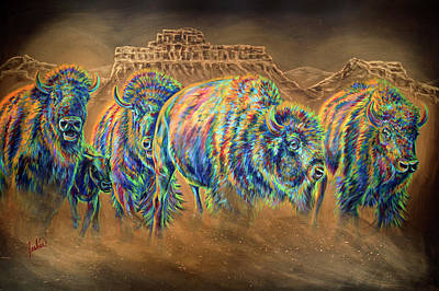 Wild And Free Poster by Teshia Art