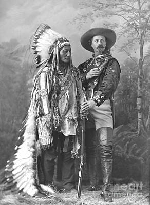 Wild Bill Cody And Sitting Bull Poster by Pd