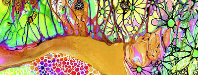 Wild Flowers Abstract Art - Sharon Cummings Poster by Sharon Cummings