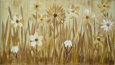 Poster featuring the painting Wild Flowers by Kathy Sheeran
