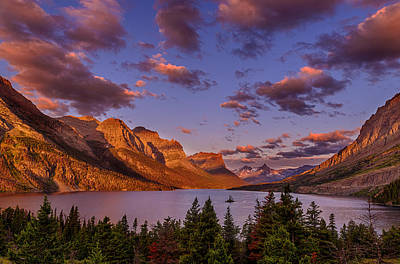 Wild Goose Island At Glacier National Park Poster