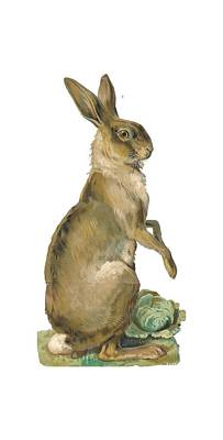 Poster featuring the digital art Wild Hare by ReInVintaged