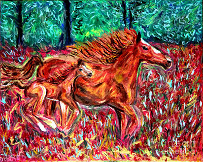 Wild Horses Poster by Debbie Davidsohn