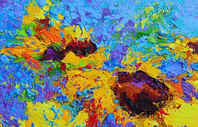 Wild Joy - Modern Impressionist Artwork Colorful Palette Knife Work Poster by Patricia Awapara