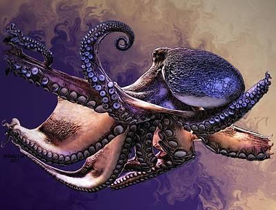Wild Octopus Poster