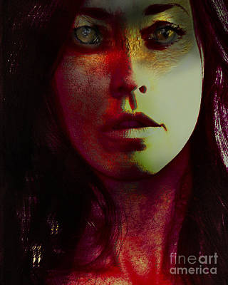 Wild Red Fox Woman Poster