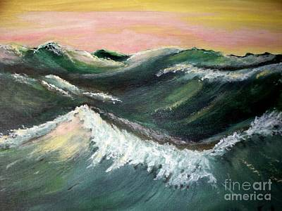 Poster featuring the painting Wild Sea by Carol Grimes