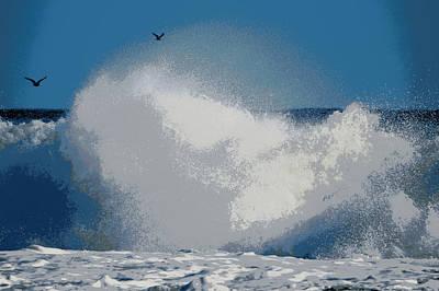 Wild Sea Poster by Dianne Cowen
