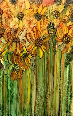 Wild Sunflower Garden Poster