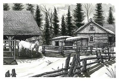 Wilderness Horse Farm Poster