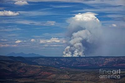 Poster featuring the photograph Wildfire Flares Up In Northern Az by Ron Chilston
