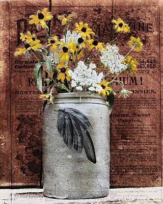 Wildflower Crock Poster by Chellie Hyre