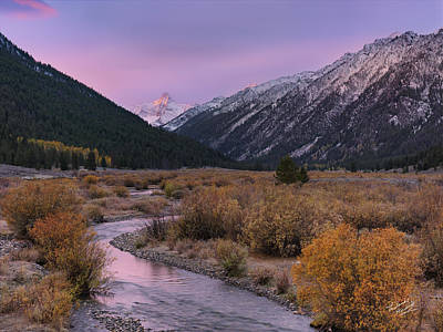 Wildhorse Creek Autumn Sunrise Poster