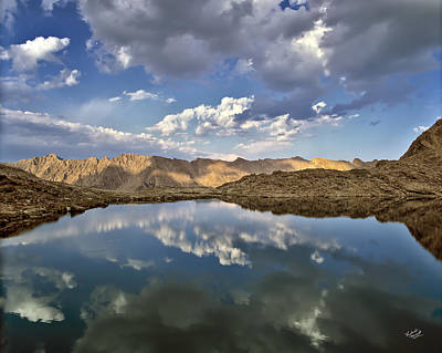 Wildhorse Lake Reflections Poster by Leland D Howard