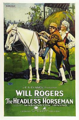 Will Rogers In The Headless Horseman 1922 Poster