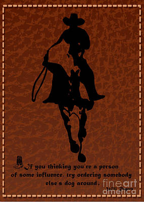 Will Rogers Says Poster