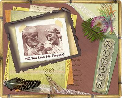 Poster featuring the photograph Will You Love Me Forever by Kathy Tarochione