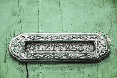 Will You Write - Jade Green Letter Box Poster