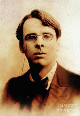 William Butler Yeats, Literary Legend By Mary Bassett Poster by Mary Bassett