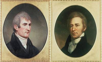 William Clark 1770-1838 And Meriwether Poster by Everett
