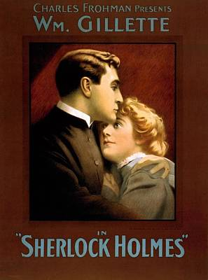 William Gillette In Sherlock Holme Poster