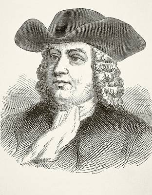 William Penn 1644 To 1718, English Poster by Vintage Design Pics