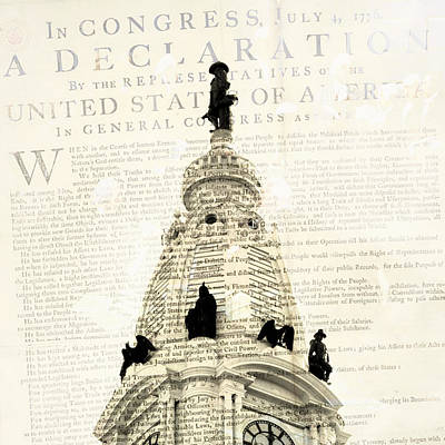 William Penn City Hall V1 Poster by Brandi Fitzgerald