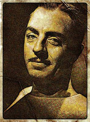 William Powell Hollywood Actor Poster by Esoterica Art Agency