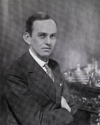 William Winter 1898 1955 British Chess Poster by Vintage Design Pics