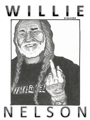 Willie Nelson Poster by Jeremy Waters