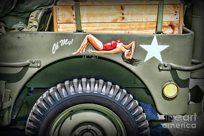Willys Jeep Art Poster by Paul Ward