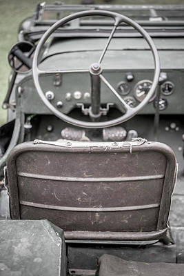 Willy's Jeep Drivers Seat  Poster